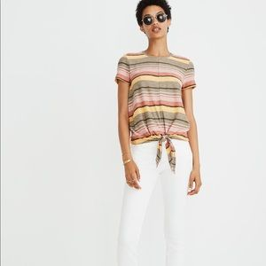 Madewell Texture and Thread tie front tee
